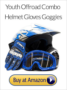 Youth Offroad Gear Combo Helmet Gloves Goggles DOT Motocross ATV Dirt Bike MX Motorcycle